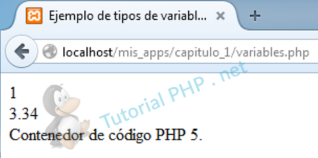 1.5) Variables en PHP 7
